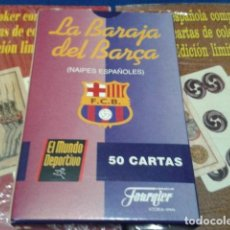 Barajas de cartas: FOURNIER NAIPES, BARAJA, CARTAS ( F.C.BARCELONA ) EL MUNDO DEPORTIVO 50 CARTAS NUEVO. Lote 112533439
