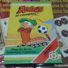 Barajas de cartas: FOURNIER NAIPES, BARAJA, CARTAS ( ANDRES EL CIENPIES ) 32 CARTAS + REGLAMENTODE JUEGO 1982. Lote 112534295