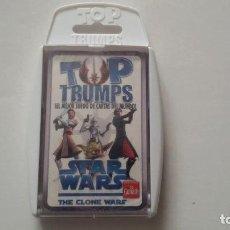 Barajas de cartas: TOP TRUMPS_STAR WARS THE CLONE WARS_PRECINTADA CON SU ESTUCHE ORIGINAL. Lote 112561335