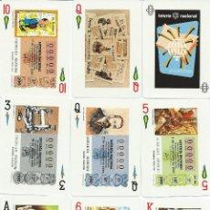 Barajas de cartas: BARAJA ESPAÑOLA HISTORICO PERIODISMO ESPAÑOL DE LOTERIAS-FOURNIER-AÑO 1981. Lote 112568311