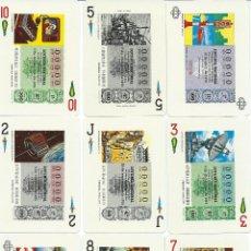 Barajas de cartas: BARAJA ESPAÑOLA DE LOTERIAS LOS MEDIOS DE COMUNICACION SOCIAL-FOURNIER-AÑO 1977. Lote 123368784