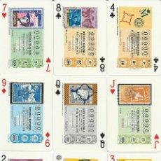 Barajas de cartas: BARAJA DE LOTERIAS DE FILATELIA-FOURNIER-AÑO 1976. Lote 112571199