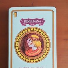 Barajas de cartas: BARAJA ESPAÑOLA FOURNIER PUBLICIDAD BERBERANA RIOJA - CENICERO OLLAURI RIOJA VINO BODEGAS. Lote 112604012