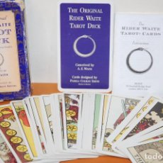 Barajas de cartas: THE ORIGINAL RIDER WAITE TAROT DECK( EN INGLES).CARTAS DEL TAROT.. Lote 112680763