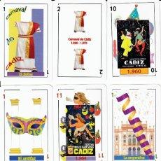 Barajas de cartas: BARAJA ESPAÑOLA DE LOS CARNAVALES DE CADIZ. Lote 112775739