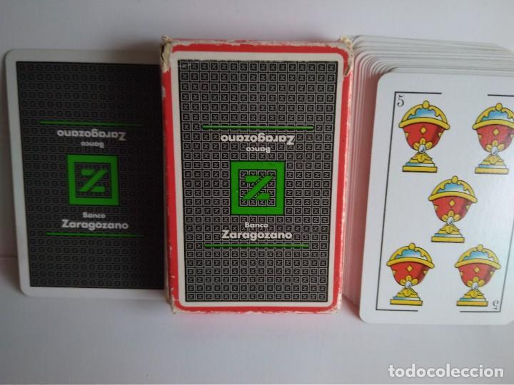 NAIPE ESPAÑOL HERACLIO FOURNIER 40 CARTAS PUBLICIDAD B.ZARAGOZANO (Juguetes y Juegos - Cartas y Naipes - Baraja Española)