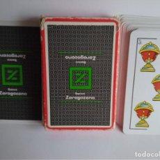 Barajas de cartas: NAIPE ESPAÑOL HERACLIO FOURNIER 40 CARTAS PUBLICIDAD B.ZARAGOZANO. Lote 112790935