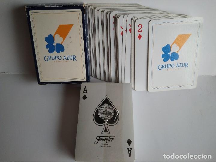 Barajas de cartas: Baraja poker Fournier publicidad Grupo Azur - Foto 3 - 112791727