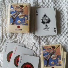 Barajas de cartas: BARAJA NAIPES DE POKER CON PUBLICIDAD BACARDI , VINTAGE , NUEVAS . FOURNIER .. Lote 112793315