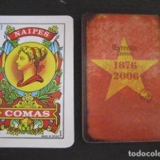Barajas de cartas: BARAJA ESPAÑOLA COMAS PUBLICIDAD CERVEZA ESTRELLA DAMM 130 ANIVERSARIO 1876 - 2006. Lote 112807151