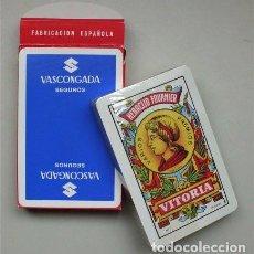 Barajas de cartas: NAIPE ESPAÑOL. HERACLIO FOURNIER. VITORIA. PUBLICIDAD SEGUROS VASCONGADA. PRECINTADA. Lote 112812091