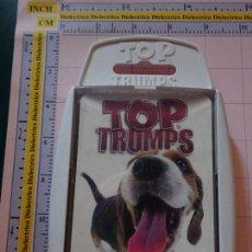 Barajas de cartas: BARAJA INFANTIL TOP TRUMPS. PERROS RAZAS CABEZONES. Lote 112827983