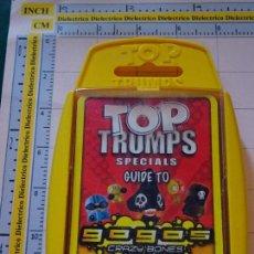 Barajas de cartas: BARAJA INFANTIL TOP TRUMPS. GUIDE TO GOGO'S CRAZY BONES. AÑO 2009. Lote 112829459