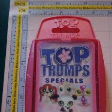 Barajas de cartas: BARAJA INFANTIL TOP TRUMPS. TIENDA DE MASCOTAS DE HASBRO. ANIMALES MASCOTA DIBUJOS. Lote 112829755