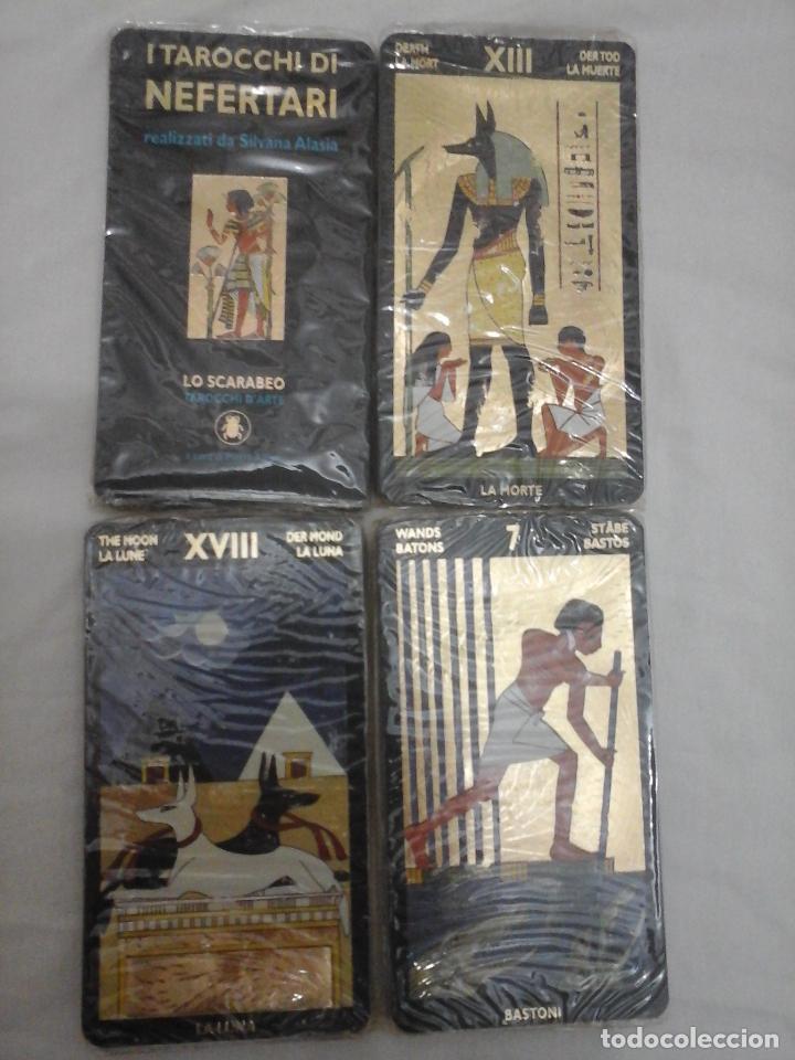 Barajas de cartas: BARAJA DE CARTAS DE TAROT EGIPCIO - NUEVO PRECINTADO Y CON INSTRUCCIONES - - Foto 3 - 146862430