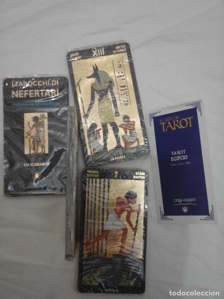Barajas de cartas: BARAJA DE CARTAS DE TAROT EGIPCIO - NUEVO PRECINTADO Y CON INSTRUCCIONES - - Foto 4 - 146862430