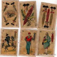 Barajas de cartas: 10 NAIPES DE LA BARAJA CONOCIDA COMO DE PEDRO MALDONADO, 1ª BARAJA TAURINA. 1875. BANDERILLAS.. Lote 112896715