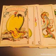 Barajas de cartas: BARAJA ZOOLÓGICA MURO PUBLICIDAD CHOCOLATES PÉREZ. Lote 112959207