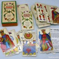 Barajas de cartas: BARAJA TAROT ESPAÑOL FOURNIER BILINGÜE COMPLETA 78 CARTAS 1978 REPRODUCCIÓN DE 1736. Lote 210567750