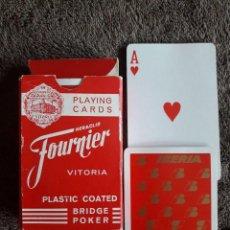 Barajas de cartas: BARAJA DE CARTAS FOURNIER / BRIDGE POKER / VITORIA / PLASTIC COATED. Lote 113012739