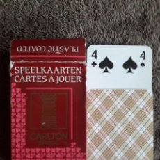 Barajas de cartas: BARAJA DE CARTAS CARLTON / BRIDGE POKER CANASTA / CARTA MUNDI / MADE IN BELGIUM . Lote 113012959