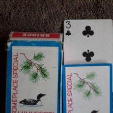 Barajas de cartas: BARAJA DE CARTAS SOMEPLACE SPECIAL MINNESOTA / BRIDGE SIZE / MADE IN TAIWAN. Lote 113013171