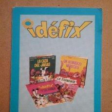 Barajas de cartas: IDEFIX CARTA EDICIONES RECREATIVAS PUBLICIDAD AÑOS '70 ASTERIX Y OBELIX. Lote 113098115