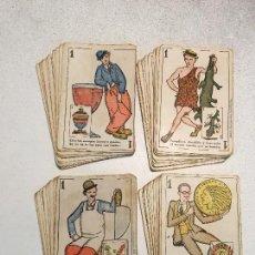 Barajas de cartas: ANTIGUA BARAJA DE CARTAS CHOCOLATES GUILLEN COMPLETA CON CHARLES CHAPLIN, HAROLD.... Lote 113630647