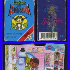 Barajas de cartas: CONDE DUCKULA + MCSTUFFINS 2 BARAJAS DE CARTAS FOURNIER LAS CARTAS EN MUY BUEN ESTADO LAS CAJAS CON. Lote 114116483