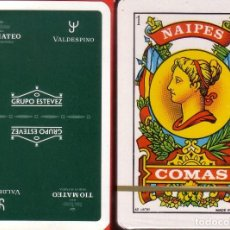 Barajas de cartas: GRUPO ESTEVEZ - FINOS - TIO MATEO - VALDESPINO - BARAJA ESPAÑOLA 40 CARTAS. Lote 114188391