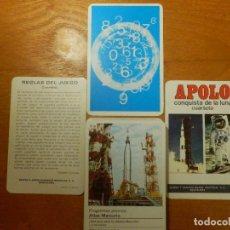 Barajas de cartas: BARAJA INFANTIL - APOLO - CONQUISTA DE LA LUNA - CUARTETO - NAIPES COMAS - COMPLETA. Lote 114192631