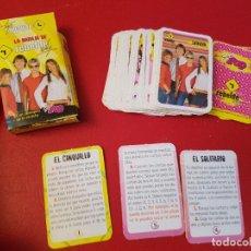 Jeux de cartes: ANTIGUA BARAJA INFANTIL OBSEQUIO REVISTA SUPER POP REBELDE WAY EL CINQUILLO SOLITARIO BENSIA. Lote 114220671