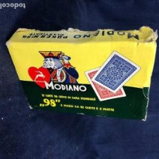Barajas de cartas: DOS BARAJAS POKER MODIANO CAJA POKER 98 PLASTIFICATED 3X15X10CMS. Lote 114294031