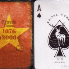 Barajas de cartas: CERVEZA ESTRELLA DAMM 1876 - 2006 - BARAJA DE POKER. Lote 114724715