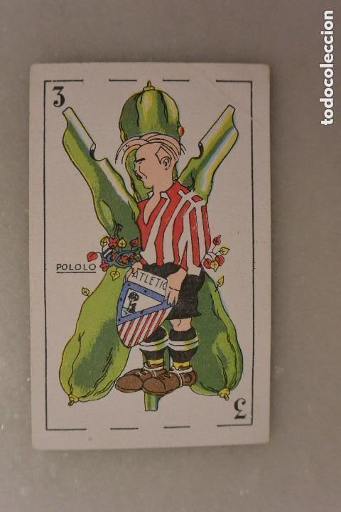 CARTA BARAJA DE FUTBOL POLOLO ATHLETIC BILBAO. AÑOS 20. CHOCOLATES ORTHI (Juguetes y Juegos - Cartas y Naipes - Baraja Española)