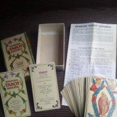 Barajas de cartas: BARAJA TAROT ESPAÑOL BILINGÜE DE FOURNIER COMPLETO CON INSTRUCCIONES DE 1978. Lote 114971651
