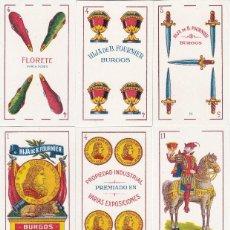 Barajas de cartas: BARAJA ESPAÑOLA FLORETE Nº 14 BURGOS AÑO 1940-50 HIJA DE B. FOURNIER SL. EN SU FUNDA ORIGINAL. Lote 114973451