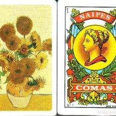 Barajas de cartas: LOS GIRASOLES - VAN GOGH - BARAJA ESPAÑOLA DE 40 CARTAS. Lote 114999799