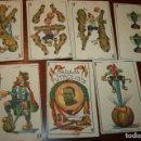 Barajas de cartas: BARAJA CHOCOLATE ROYAL LA PAJARITA ALBACETE.7 CARTAS BARAJA FUTBOLISTA,ZAMORA GUARDAMETA.. Lote 115147355