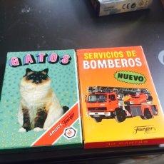 Barajas de cartas: LOTE DE DOS BARAJAS, GATOS Y SERVICIO DE BOMBEROS. Lote 115451591