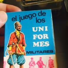 Barajas de cartas: BARAJA INFANTIL EL JUEGO DE LOS UNIFORMES MILITARES. Lote 115460412