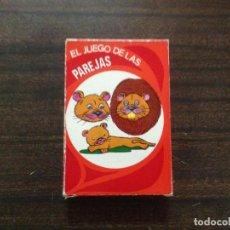 Barajas de cartas: ANTIGUA BARAJA CARTAS INFANTIL COMPLETA EL JUEGO DE LAS PAREJAS EDICIONES RECREATIVAS. Lote 137433624