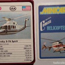 Barajas de cartas: BARAJA CARTAS. MINICART HELICOPTEROS.COMAS. NUEVA.. Lote 115616659