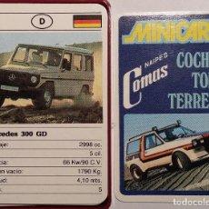 Barajas de cartas: BARAJA CARTAS. MINICART COCHES TODO TERRENO.COMAS. NUEVA.. Lote 115616855