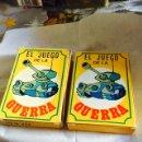 Barajas de cartas: LOTE DE 2 BARAJAS EL JUEGO DE LA GUERRA, FALTA 1 CARTA EN CADA BARAJA. Lote 115697670