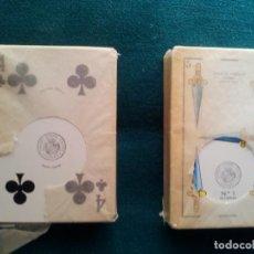 Barajas de cartas: 2 ANTIGUAS BARAJAS DE CARTAS DE HERACLIO FOURNIER-VITORIA-MADE IN SPAIN. Lote 115730903
