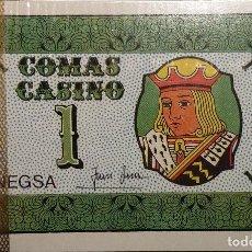 Barajas de cartas: CARTAS DE VALORES DISTINTOS PARA JUEGOS.COMAS. NUEVA.. Lote 115735591