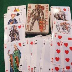 Barajas de cartas: BARAJA POKER - JEU JEHANNE D'ARC ET CHARLES VII - EDITIONS DUSSERRE. Lote 115903387