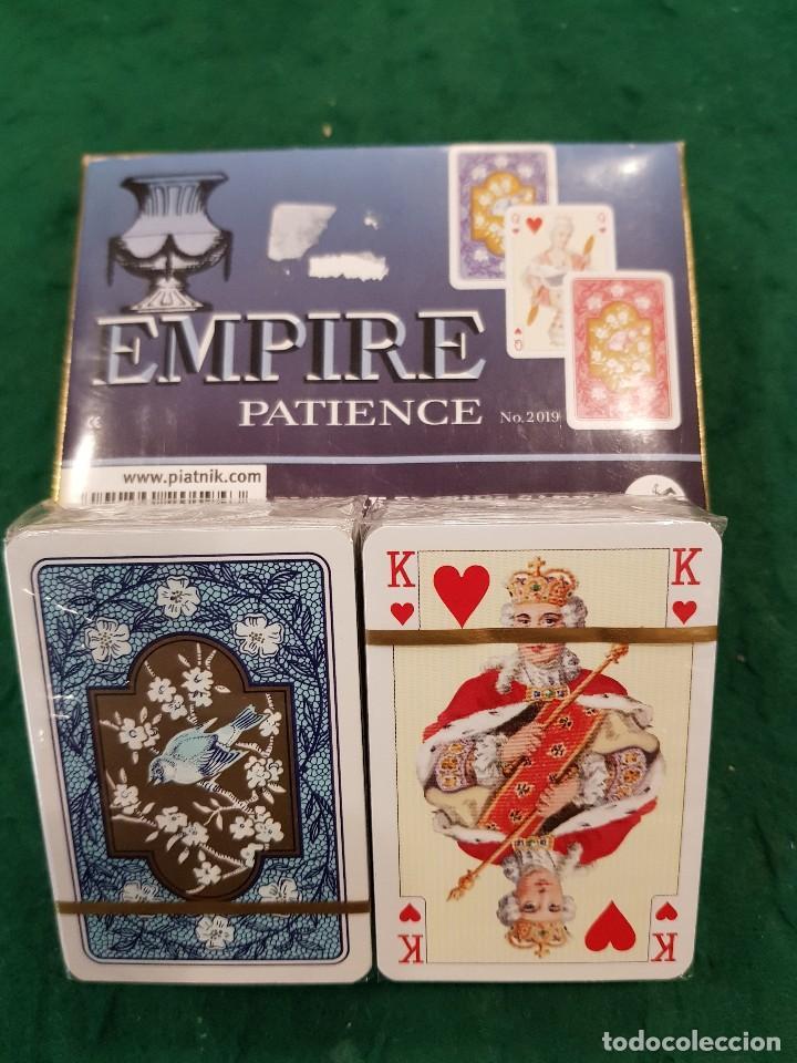 BARAJA POKER DOBLE MINI - EMPIRE PATIENCE - VIENNA-AUSTRIA (Juguetes y Juegos - Cartas y Naipes - Barajas de Póker)