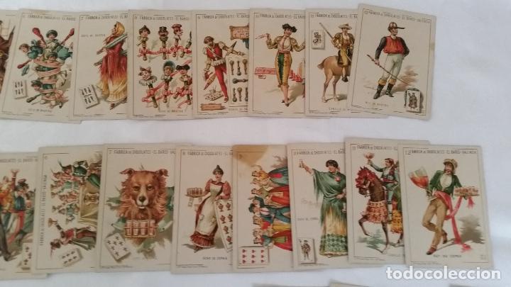 Barajas de cartas: BARAJA NAIPES CHOCOLATES EL BARCO LA GRANDE COMPLETA MUY BUEN ESTADO AÑO 1888 ORIGINAL - Foto 3 - 116254195